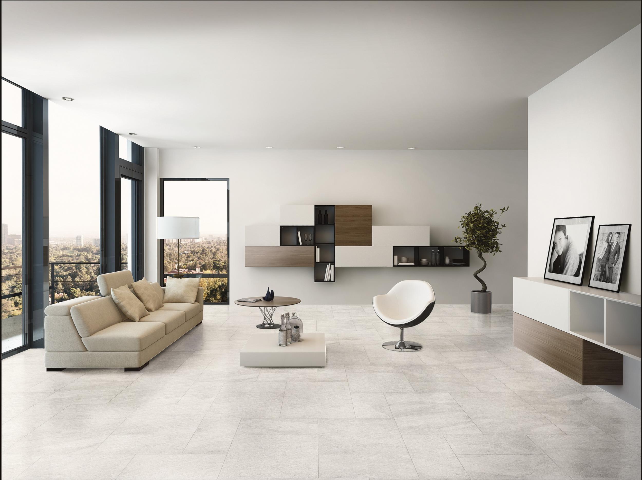 Moderne Bodenfliesen Wohnzimmer